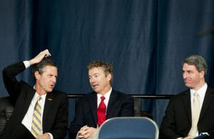 Cuccinelli, Sen. Rand Paul speak at Liberty University's convocation