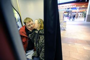 Counting kisses - Couple shares a special bond