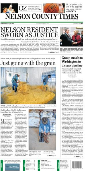 Nelson County Times for Jan. 15, 2015