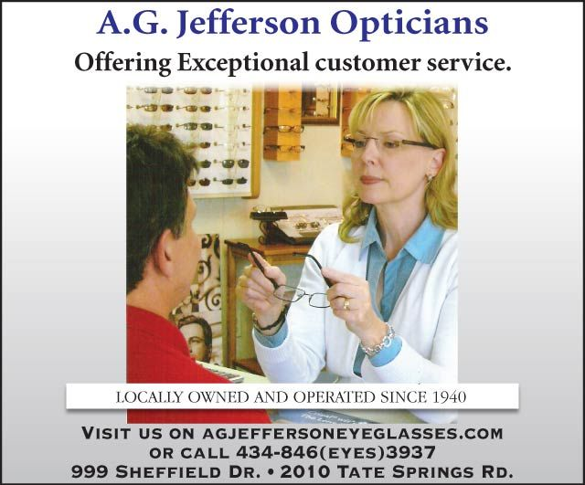 Eyeglass Frames Lynchburg Va : AG Jefferson Opticians Lynchburg, VA newsadvance.com