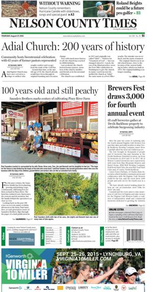 Nelson County Times for Aug. 27, 2015