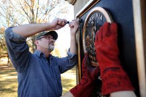 Artist specializes in restoring bronze; repairs Doughboy statue