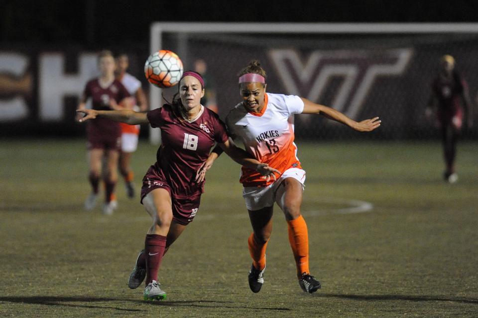 Virginia tech women s soccer team ties no 1 florida state inside vt