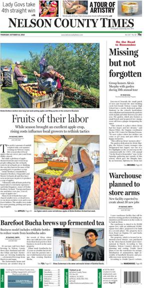 Nelson County Times for Oct. 16, 2014