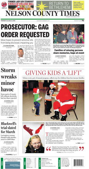 Nelson County Times for Dec. 12, 2013