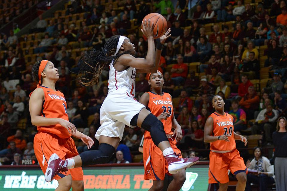 Virginia tech women s basketball completes season sweep of virginia