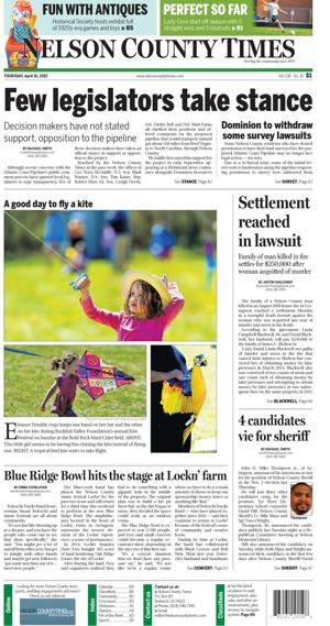 Nelson County Times for April 16, 2015