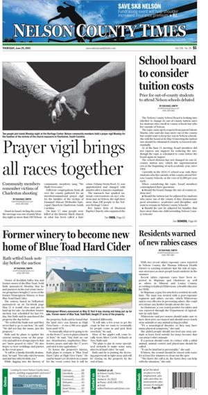Nelson County Times for June 25, 2015