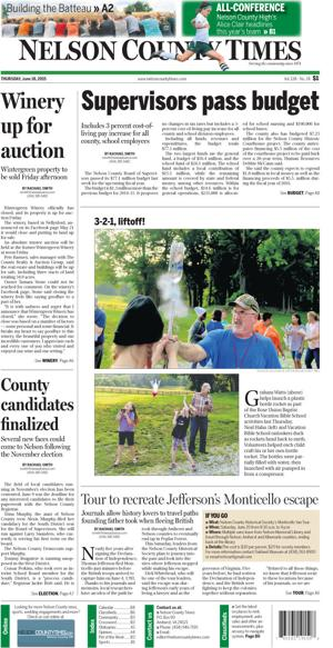 Nelson County Times for June 18, 2015