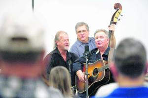 Bluegrass jam session held at Bedford Museum