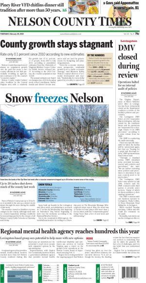 Nelson County Times for Feb. 20, 2014