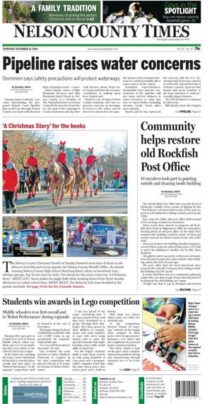 Nelson County Times for Dec. 11, 2014