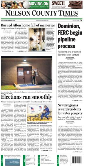 Nelson County Times for Nov. 6, 2014