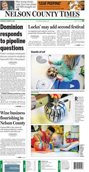 Nelson County Times for Oct. 23, 2014