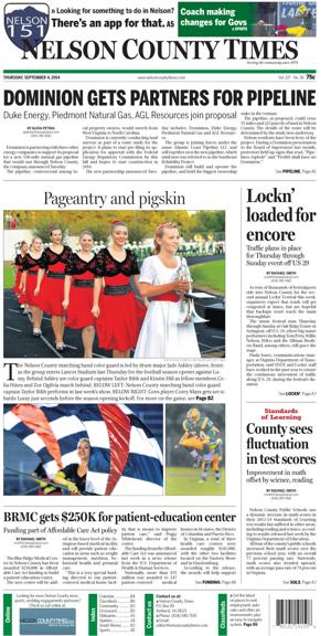 Nelson County Times for Sept. 4, 2014