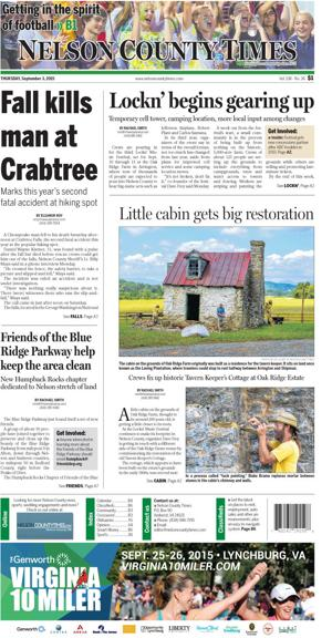 Nelson County Times for Sept. 2, 2015