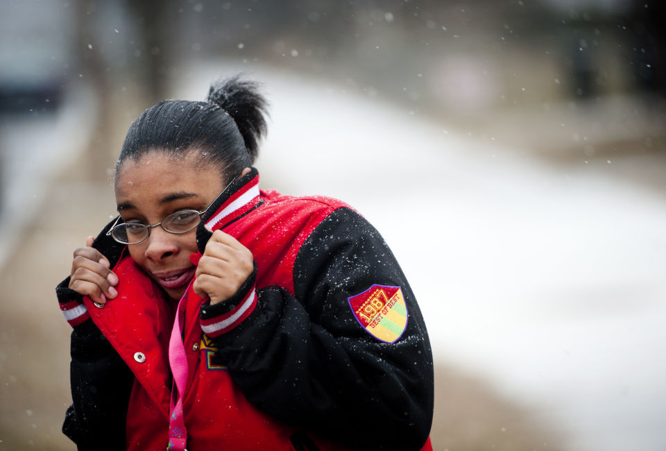 Heavy, wet snow blankets region