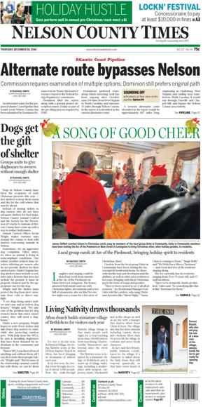 Nelson County Times for Dec. 18, 2014