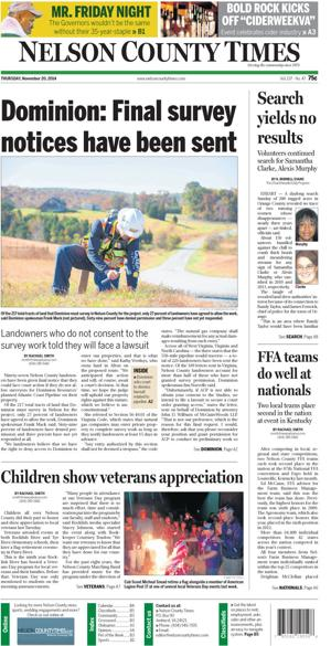 Nelson County Times for Nov. 20, 2014