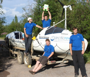 Arctic rowboat crew reaches halfway point in ocean journey