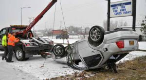 Vehicle accidents accompany Fairbanks' first significant snowfall