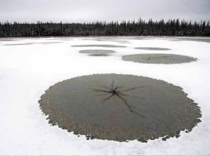 Lake stars, windshield cracks forming over Alaska
