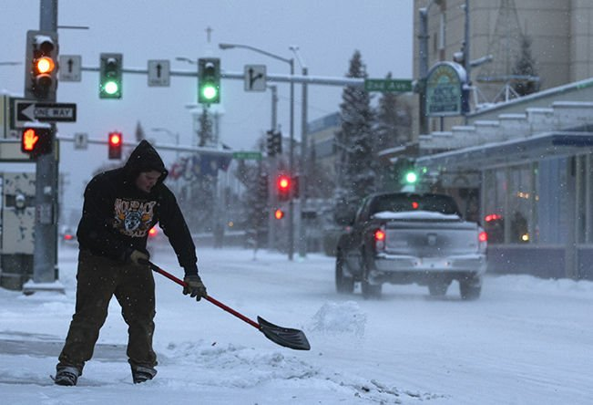Weather system brings end to 39 nosnowvember 39 in fairbanks - Interior community health center fairbanks ...