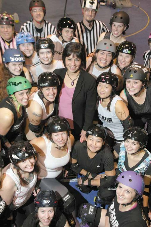 Gala, rollergirls event make a push for breast cancer awareness, treatment