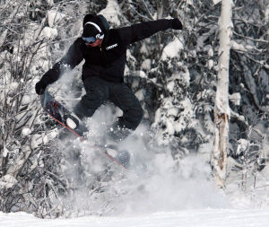 Mother Nature finally cooperates as skiers and snowboarders hit Moose Mountain