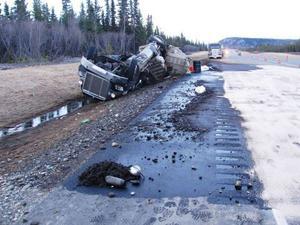 Fuel tanker crash