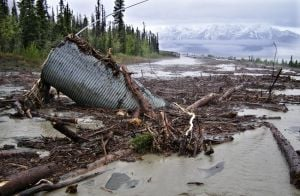 Alaska Highway closed due to mudslides, washouts in Yukon
