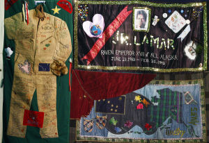 Portions of AIDS Memorial Quilt on display at UAF