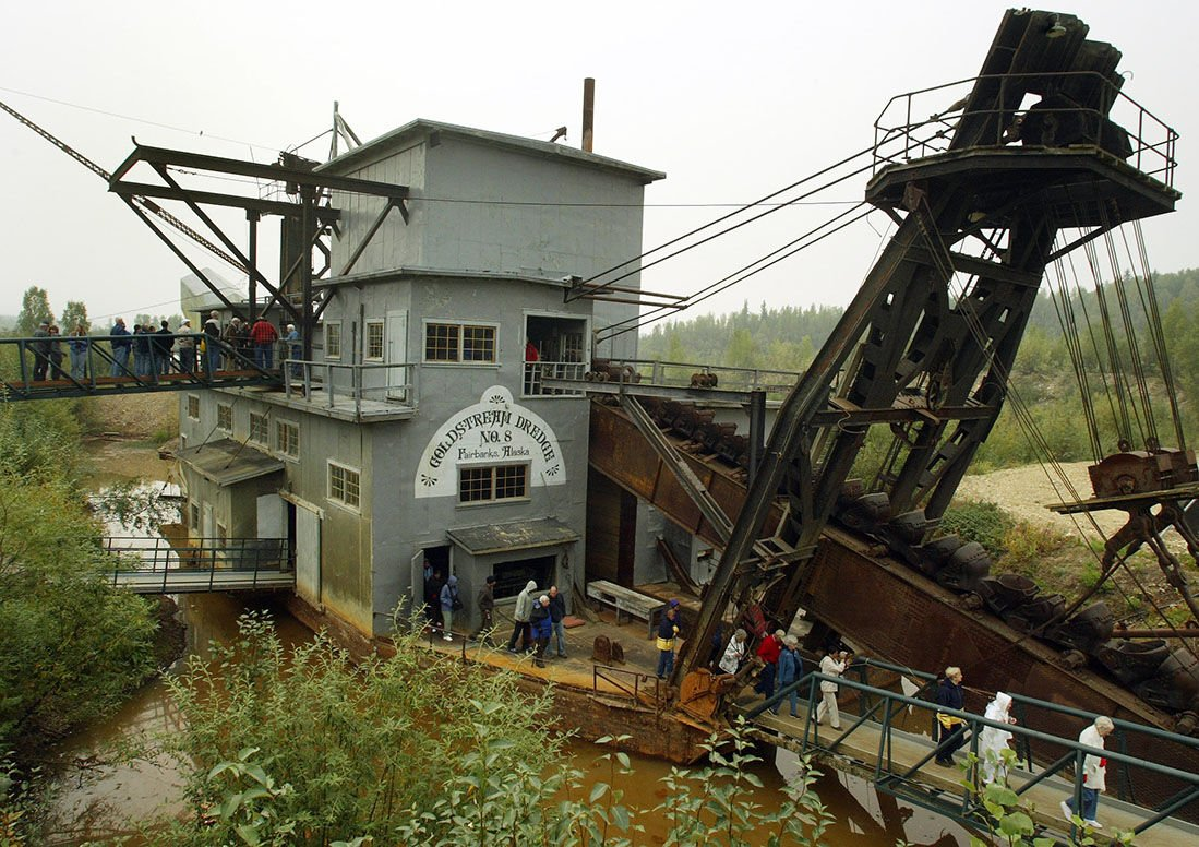 Dredge In Culinary : Gold dredge no a piece of authentic alaska history