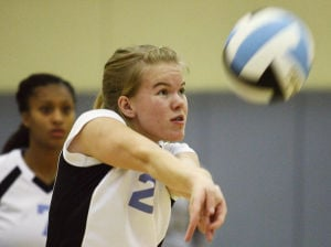 Rams spikers roll: Monroe Catholic too much for Hutch and remains unbeaten