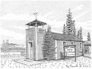 Dot Lake Community Chapel the last of a construction camp town