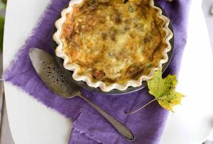 Roasted Vegetable Quiche easy to make ahead