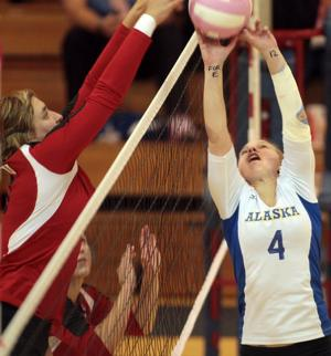Nanooks volleyball team falls 3-1 to Western Oregon