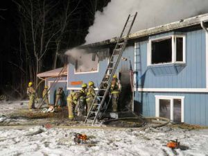 Blaze destroys North Pole-area home