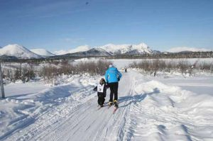 University of Alaska Fairbanks skiers, others visit villages to teach children to ski