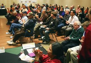 Crowd voices concerns at meeting on proposed Ambler road
