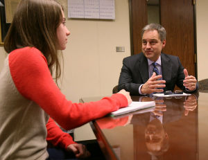 Young Fairbanks reporter lands interview with Alaska Gov. Sean Parnell