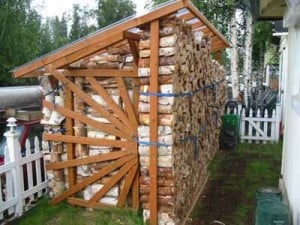 Woodpile photos prove effort is labor of love