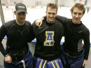 Friends compete to be Nanooks starting goalie