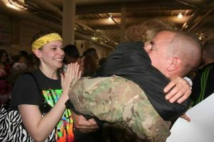 Congratulations. Dismissed: Colonel releases returning Stryker soldiers at Fort Wainwright