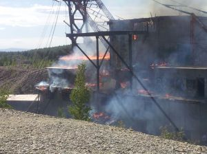 Gold Dredge No. 3 fire
