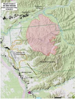 Stuart Creek 2 Fire map July 8