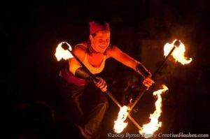 Unexpected attraction draws crowds to Fire Dancers