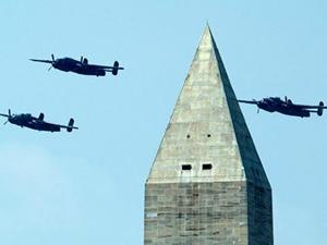 Raw: World War II Planes Fly Over DC for VE Day