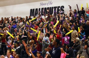 Lathrop crowd keeps quiet as new tradition starts on new court