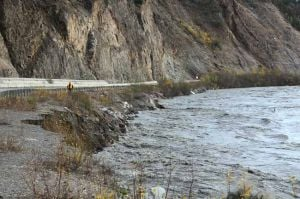 Flooding reported on Nenana River as heavy rains pound Alaska Range